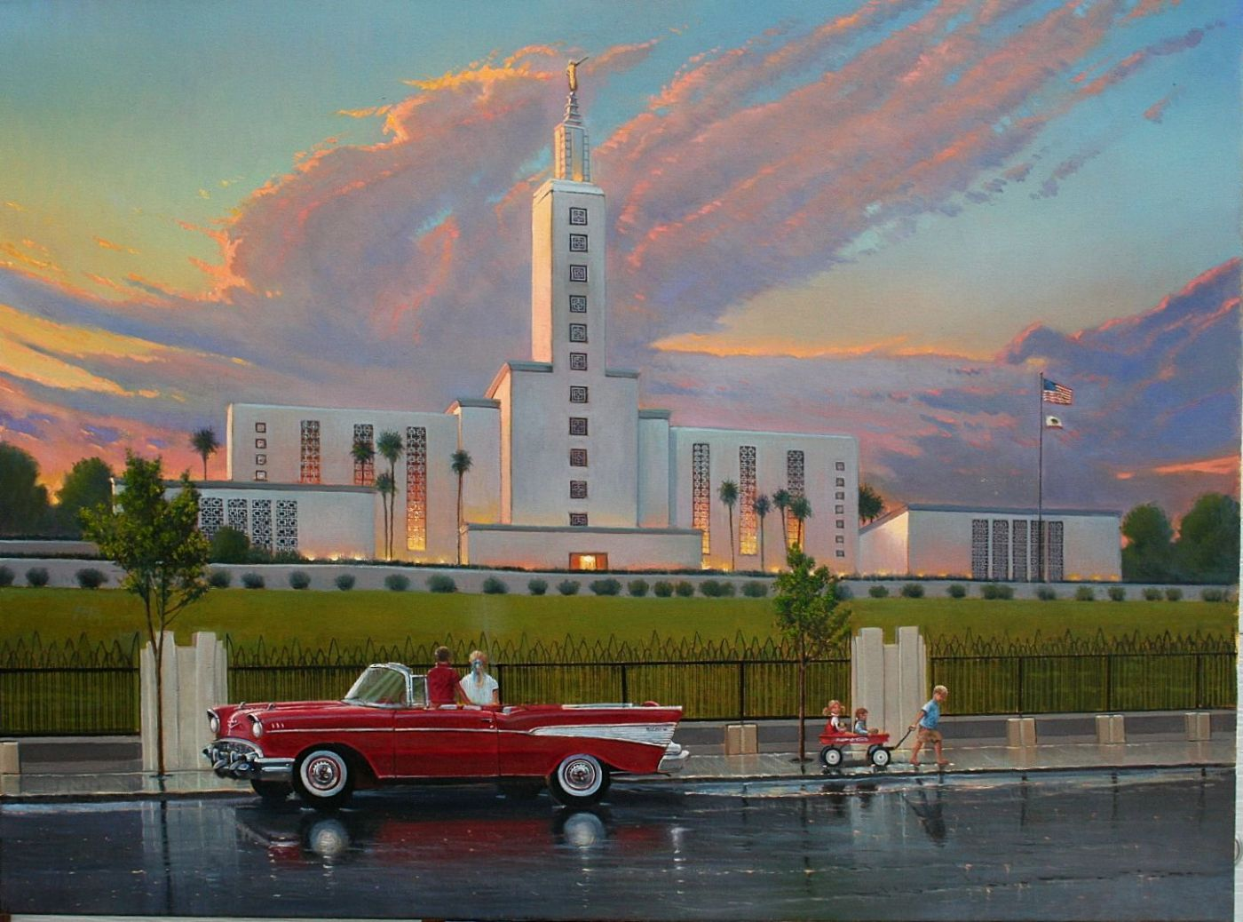 Los angeles california temple d lyon art historical lds for Painting in los angeles